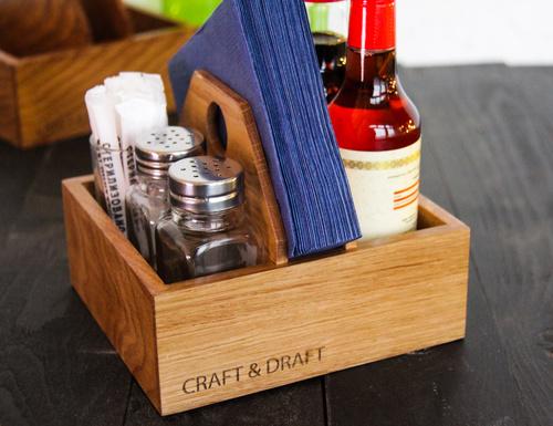 Деревянные салфетницы для кафе и ресторанов