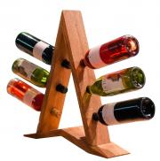 Подставка под бутылки из дерева