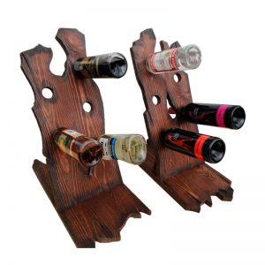 Подставка под бутылки деревянная