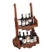 Тележка под алкоголь деревянная