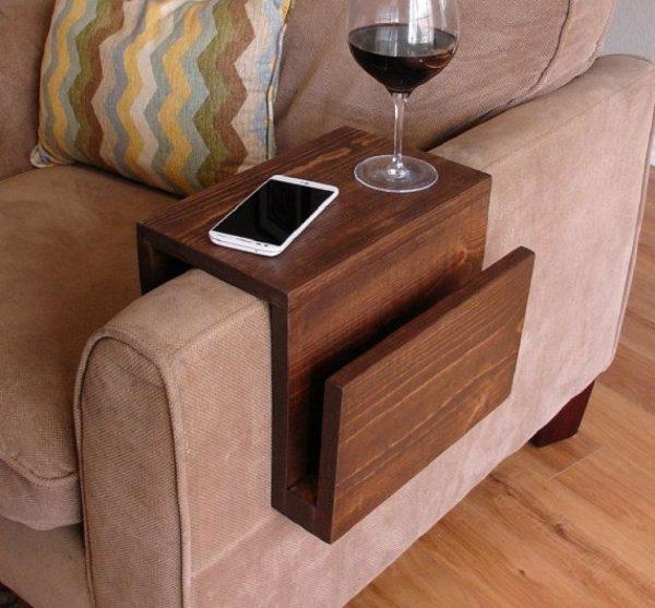 Подставка на подлокотник деревянная